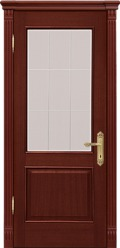 Двери Межкомнатные двери Рада Верона Валенсия Вариант 1 Красное дерево