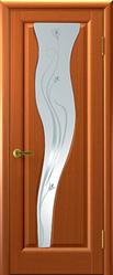 Ульяновская межкомнатная дверь Елена 2 (Сафари) стекло анегри