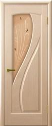 Ульяновская межкомнатная дверь Мария (Диамант) стекло беленый дуб