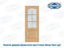 Полотно дверное ТВИСТ со стеклом дуб 800х2000мм арт52-3