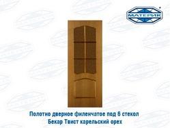 Полотно дверное ТВИСТ со стеклом карельский орех 800х2000мм арт52-3