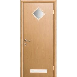Межкомнатная дверь Фрамир Эко шпон Сантехническое полотно со стеклом