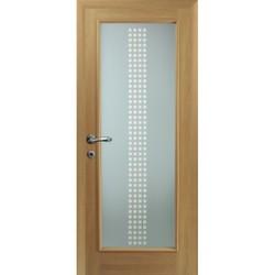 Межкомнатная дверь Фрамир Эко шпон Crystal Blik 10 полотно со стеклом