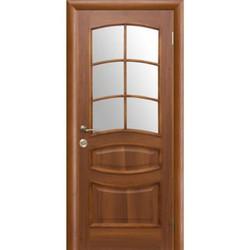 Межкомнатная дверь Фрамир Эко шпон Виолетта полотно со стеклом