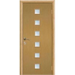 Межкомнатная дверь Фрамир Эко шпон Прима полотно со стеклом