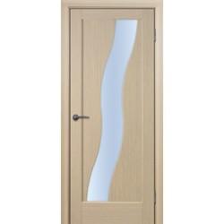 Межкомнатная дверь Фрамир Шпон Волна полотно со стеклом