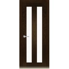Межкомнатная дверь Мебель массив  Неаполь 5 шпон темный дуб полотно со стеклом