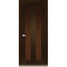 Межкомнатная дверь Мебель массив  Неаполь 5 шпон темный дуб полотно глухое