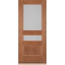 Межкомнатная дверь Мебель массив  Гранада шпон светлый дуб полотно со стеклом