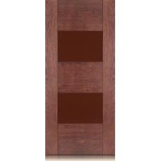 Межкомнатная дверь Мебель массив  Толедо шпон коньячный дуб матовый полотно со стеклом