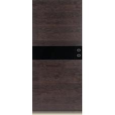 Межкомнатная дверь Мебель массив  Кремона шпон дуб темный матовый полотно со стеклом