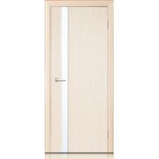 Межкомнатная дверь Мебель массив  Альба 4 шпон белый дуб полотно со стеклом