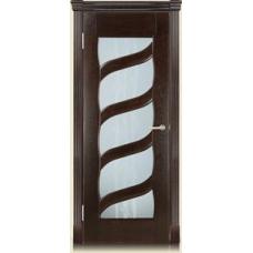 Межкомнатная дверь Мебель массив  Парма шпон темный дуб полотно со стеклом