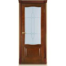 Межкомнатная дверь Мебель массив  Севилья шпон миланский орех файн-лайн полотно со стеклом