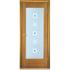 Межкомнатная дверь Мебель массив  Капри шпон африканский орех файн-лайн полотно со стеклом