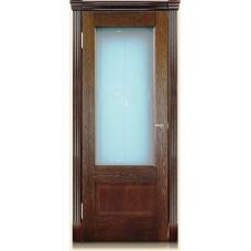 Межкомнатная дверь Мебель массив  Болония шпон коньячный дуб полотно со стеклом