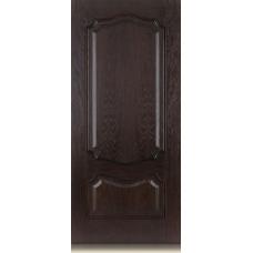 Межкомнатная дверь Мебель массив  Барселона шпон темный дуб матовый полотно глухое