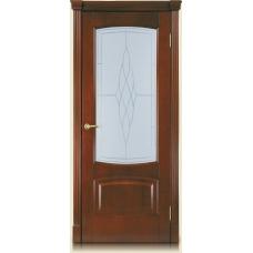 Межкомнатная дверь Мебель массив  Антик шпон миланский орех файн-лайн полотно со стеклом