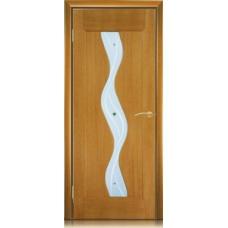 Межкомнатная дверь Мебель массив  Варио шпон африканский орех файн-лайн полотно со стеклом