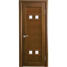 Межкомнатная дверь Волховец Vario 0521 шпон бук орех полотно со стеклом