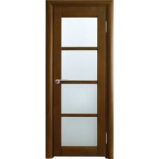 Межкомнатная дверь Волховец Vario 0410 шпон бук орех полотно со стеклом