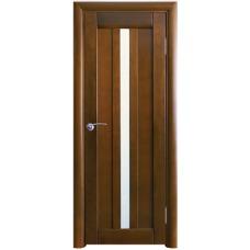 Межкомнатная дверь Волховец Vario 0210 шпон бук орех полотно со стеклом