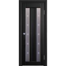 Межкомнатная дверь Волховец Vario 0260 шпон бук венге полотно со стеклом