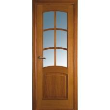 Межкомнатная дверь Волховец Classic 1072 шпон дуб полотно со стеклом