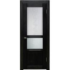 Межкомнатная дверь Волховец Perfecto 0610 шпон бук венге полотно со стеклом