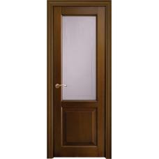 Межкомнатная дверь Волховец Legend 0140 шпон бук орех полотно со стеклом