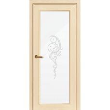 Межкомнатная дверь Волховец Nuance 3028 шпон ясень ваниль полотно со стеклом