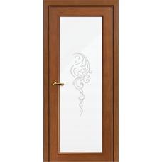 Межкомнатная дверь Волховец Nuance 3028 шпон анегри шоколад полотно со стеклом