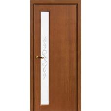 Межкомнатная дверь Волховец Nuance 3024 шпон анегри шоколад полотно со стеклом