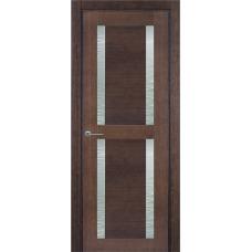Межкомнатная дверь Волховец Modum 4023 шпон дуб мореный полотно со стеклом